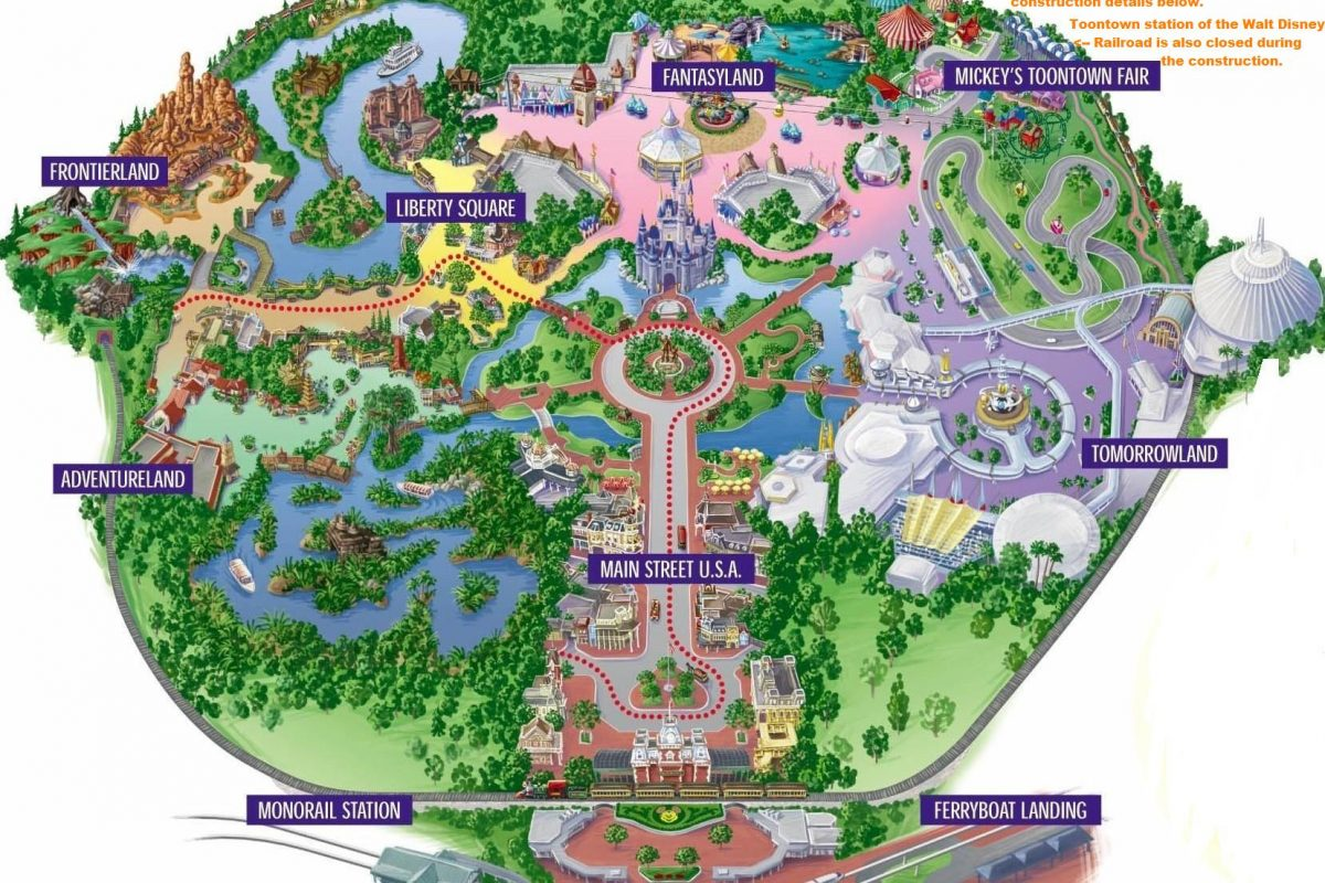 Mapa Parques de Orlando