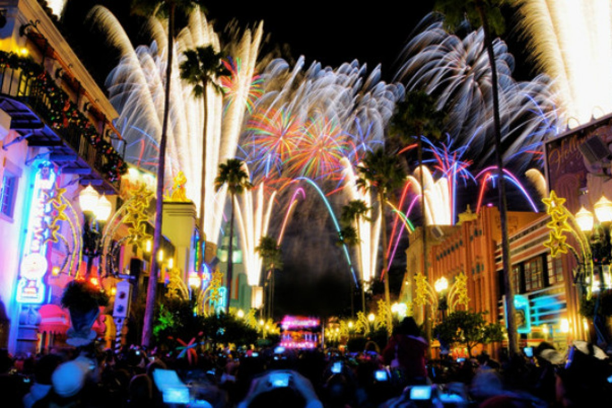 Show de fogos de Star Wars no Hollywood Studios