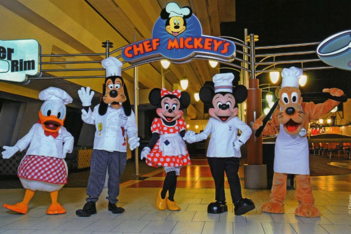 Chef Mickey's — refeição com personagens na Disney