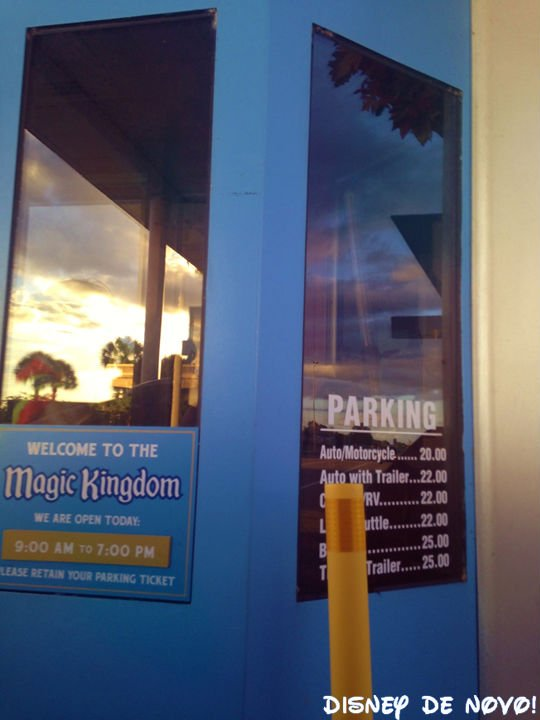 Benefícios dos hotéis da Disney Estacionamento