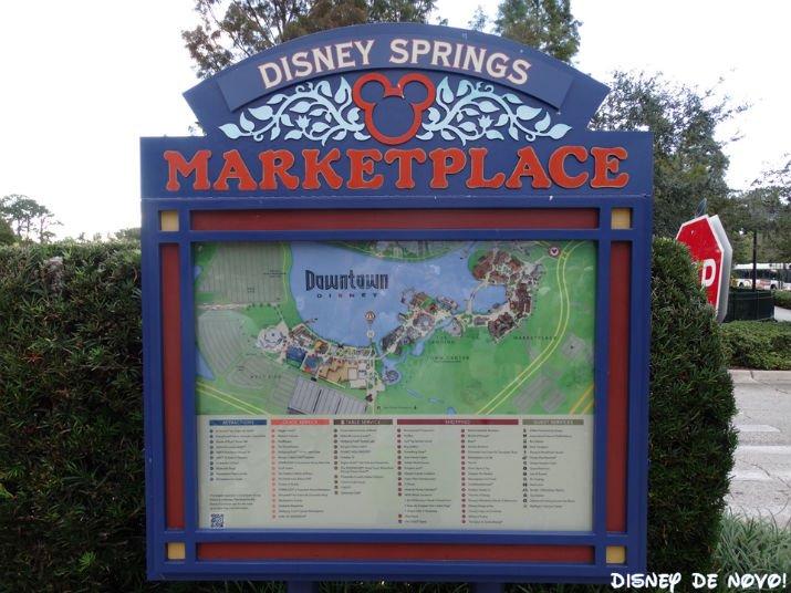 Mapa Novidades de Disney Springs