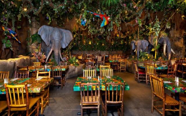 Rainforest Cafe – refeição na floresta em Orlando