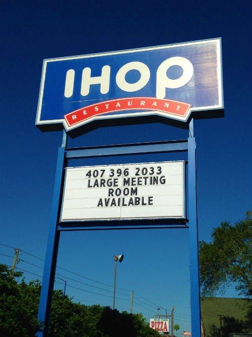 IHOP Orlando Placa