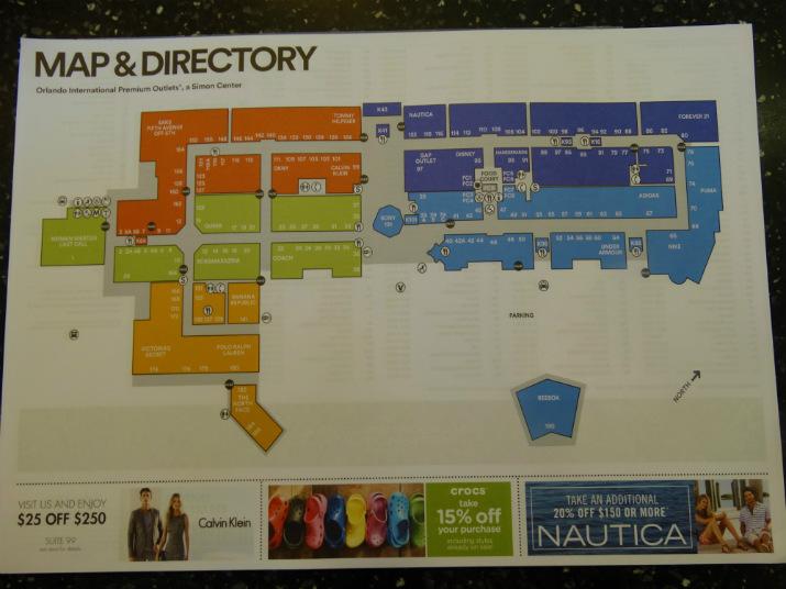 Outlet Premium Orlando Mapa