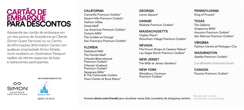 Cupons de desconto do Premium Outlets orlando como imprimir