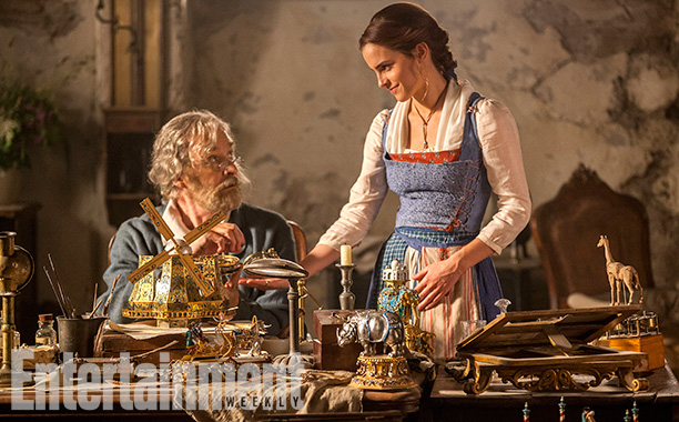 Beauty and the Beast (2017) Emma Watson stars as Belle and Kevin Kline is Maurice, Belle's father.