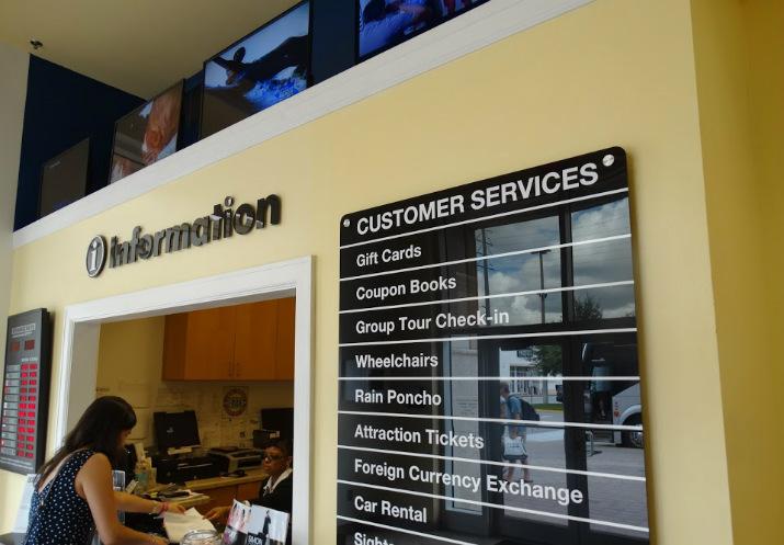 Information Center Cupons de desconto Premium Outlets Orlando