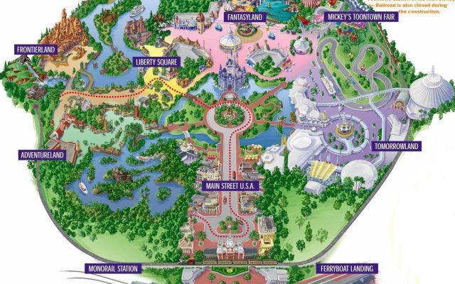 Mapa Parques de Orlando (pode imprimir!)