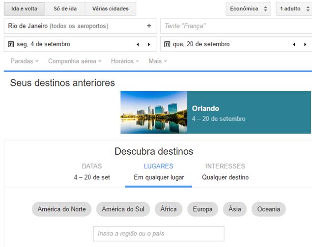Google Flights Brasil