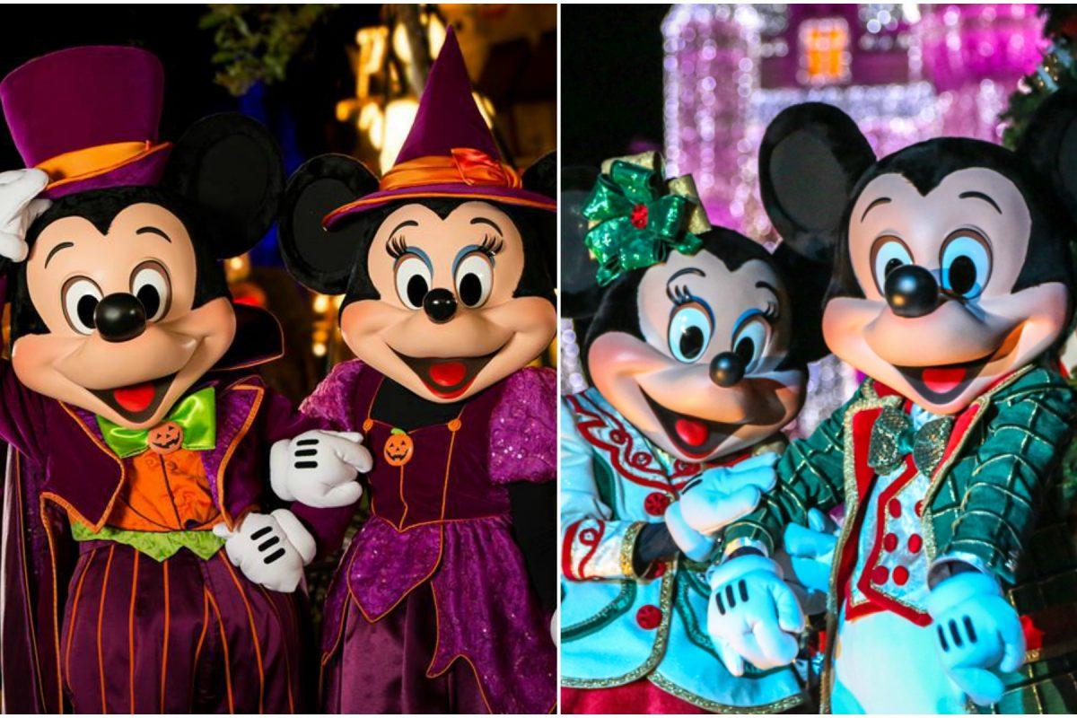 Datas da festa de Halloween e Natal da Disney em 2018