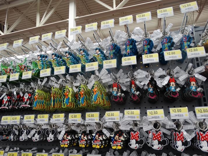 Walmart em Orlando chaveiros