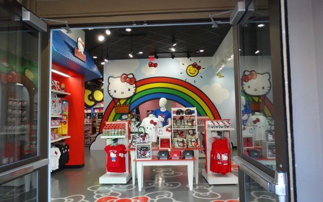 A fofa loja da Hello Kitty no Universal Studios