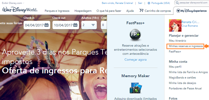 Fastpass+ como agendar