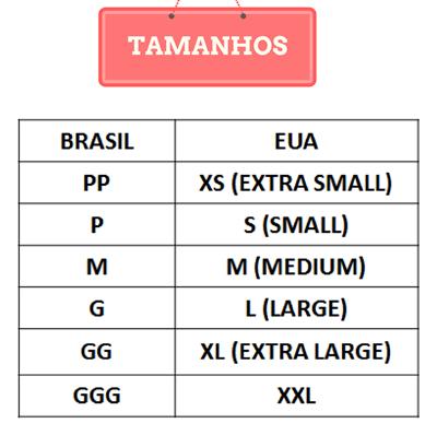 Tamanho Roupa EUA Brasil