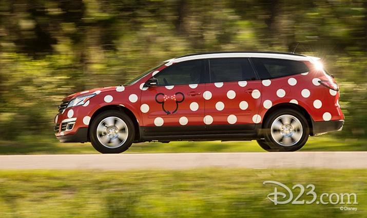 Novidades da Disney carro Van Minnie