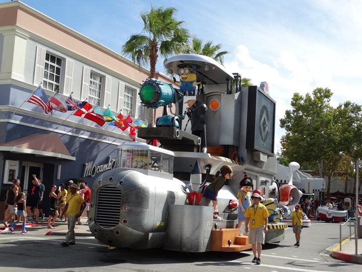 Universal Studios desfile personagens