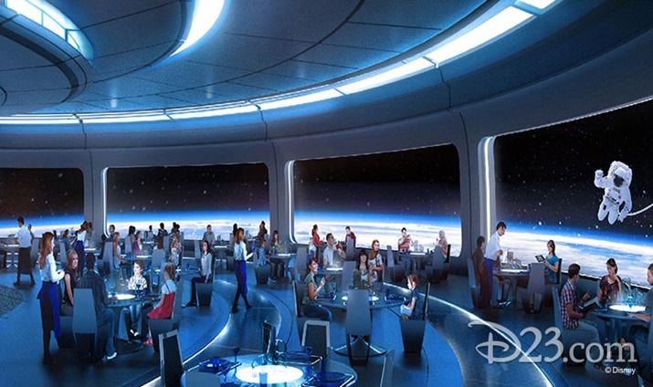 Novidades da Disney Restaurante Mission Space