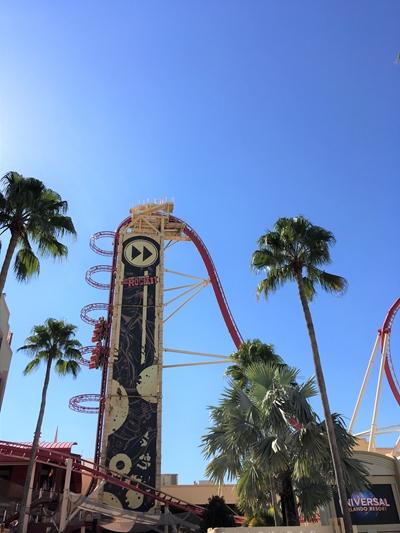 Universal Studios montanha russa Rock it
