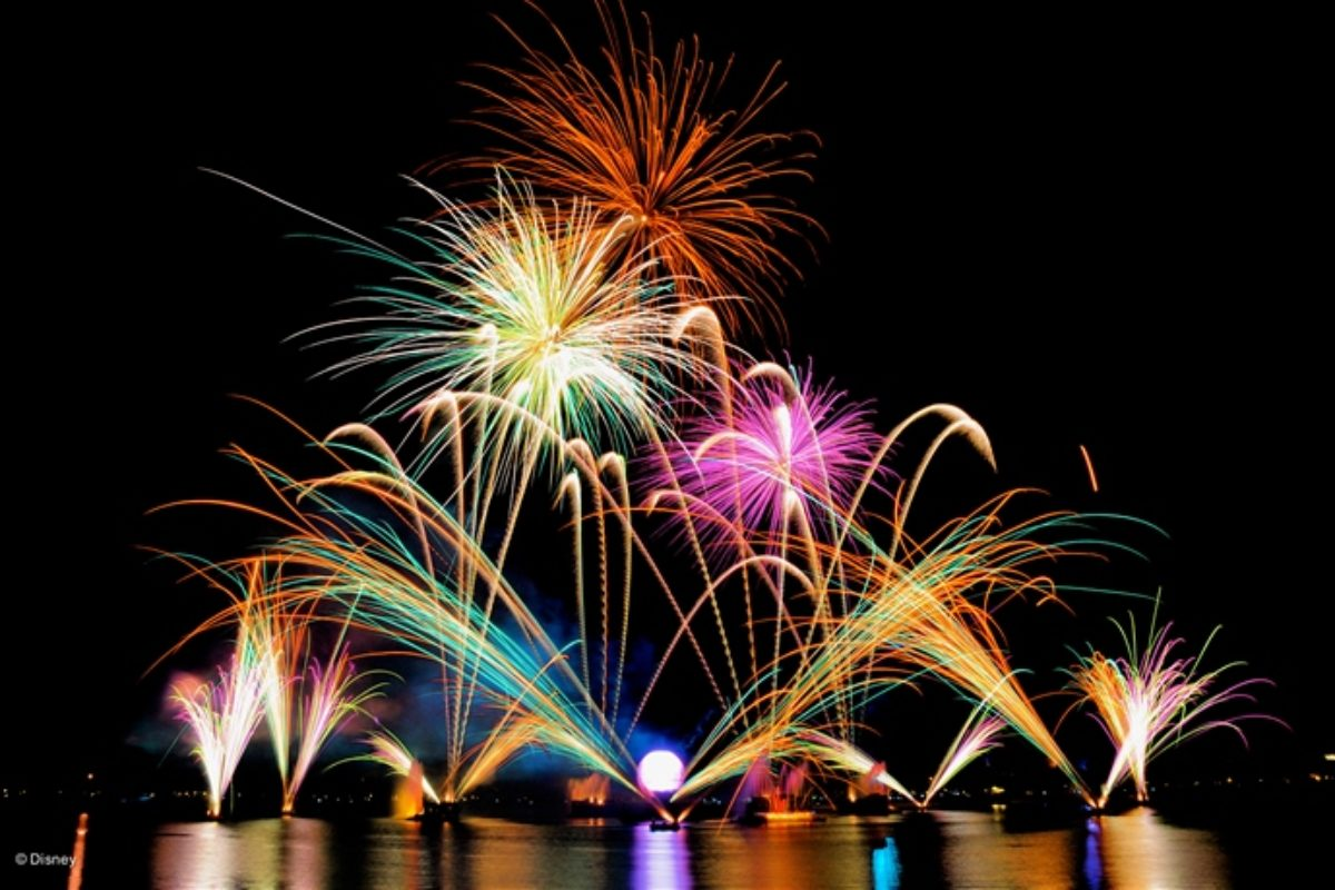 Fim do show Illuminations no Epcot