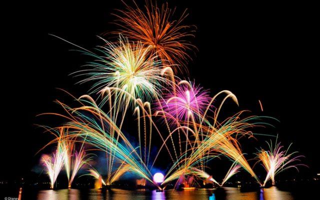 Fim do show Illuminations no Epcot