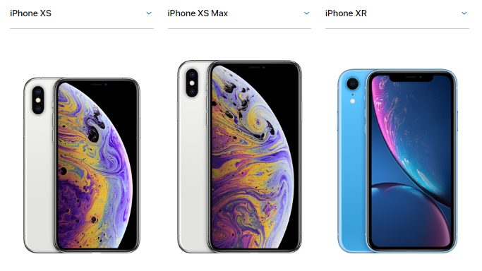 432c56fedad O preço do iPhone XR é a partir de US$749 (é o mais econômico), iPhone XS a  partir de US$999 e iPhone XS Max a partir de US$1.099
