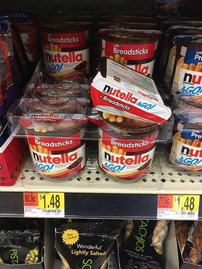 walmart americano nutella