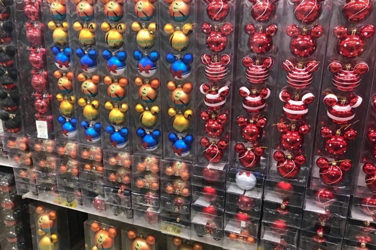 Enfeites de Natal do Mickey nas Lojas Americanas