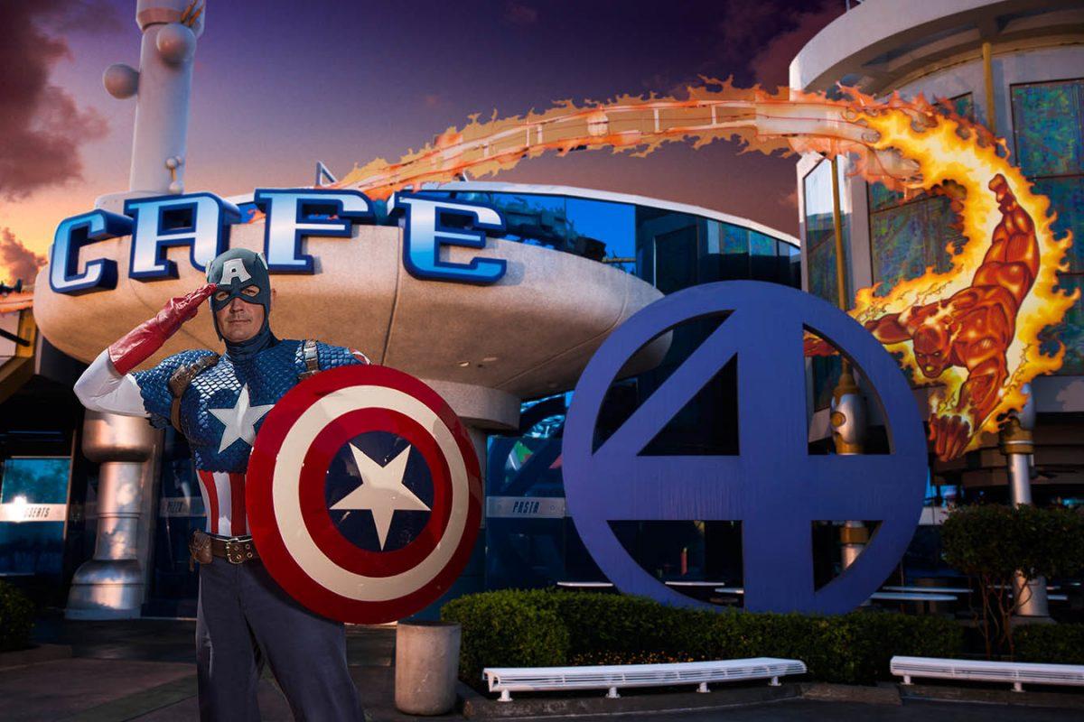 Refeição com Super Heróis na Universal