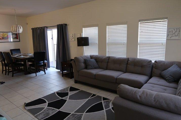 Aluguel de casas em Orlando sala