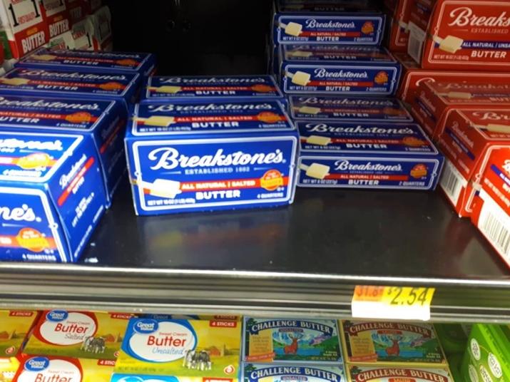 Café da manhã americano Manteiga Walmart