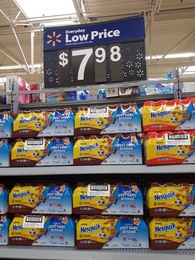 Café da manhã americano Nesquik Walmart