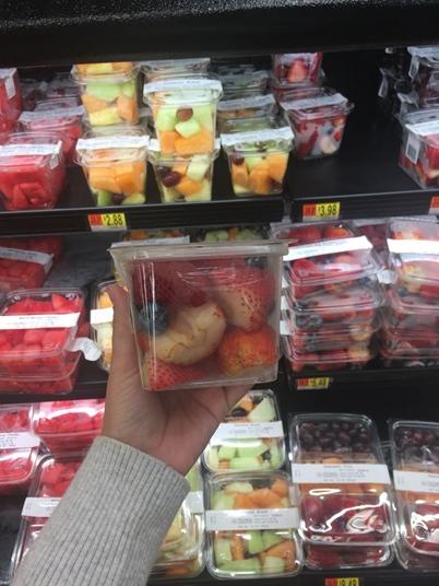 Café da manhã americano Frutas Walmart