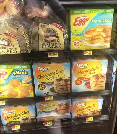Café da manhã americano Panqueca Walmart