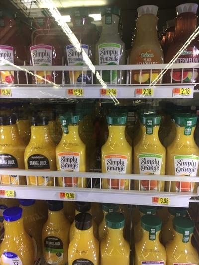 Café da manhã americano Sucos Walmart