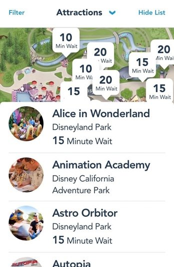 Disney California Aplicativo