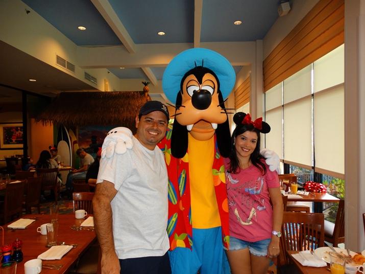 Disney California Refeição com personagens