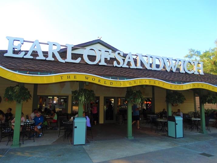 Earl of Sandwich restaurante barato em orlando