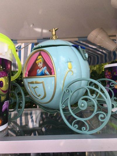 Pipoca carruagem Cinderela Disney