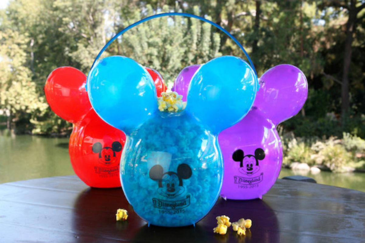 Refil de bebida e Refil de pipoca da Disney