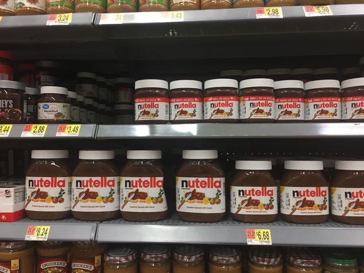 Café da manhã americano Nutella Walmart