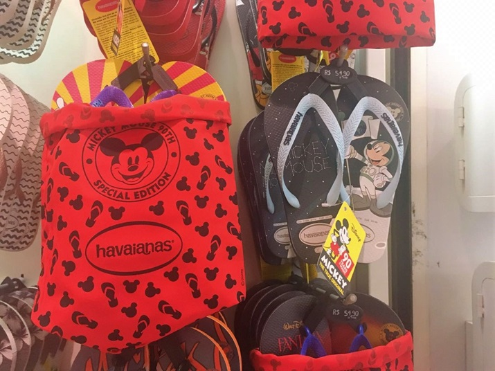 Havaianas Mickey 90 anos bolsa especial