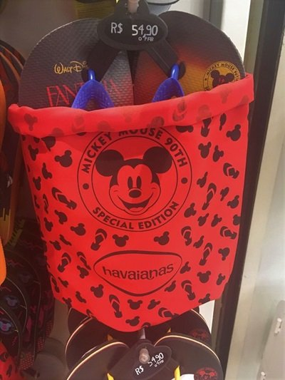 Havaianas Mickey 90 anos sacola