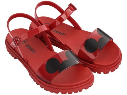 zaxy mickey sandalia vermelha