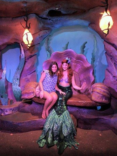 onde encontrar as princesas da disney Ariel