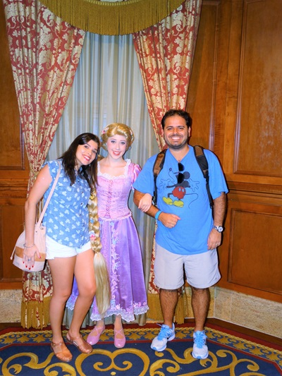 onde encontrar as princesas da disney Rapunzel