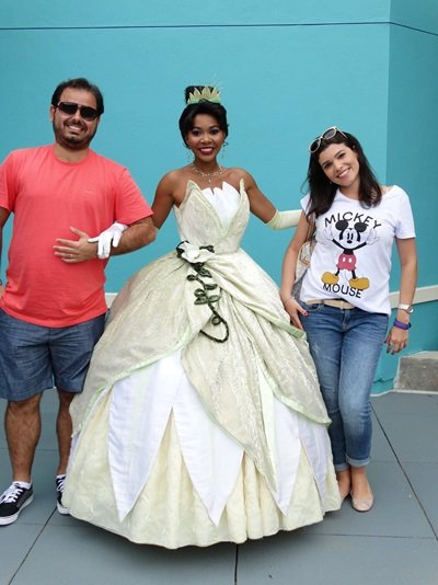 onde encontrar as princesas da disney Tiana