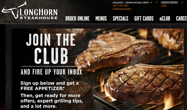 Longhorn Orlando site