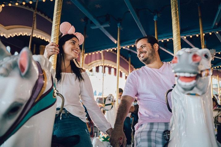 Fotos na Disney carrossel Magic Kingdom