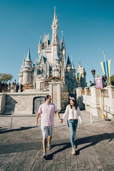 Fotos na Disney Castelo da Cinderela