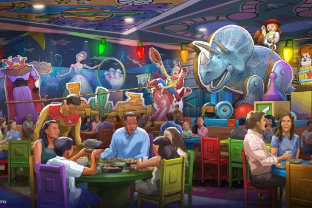 Novo restaurante na Toy Story Land